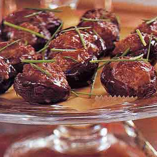 Plum-Glazed Stuffed Shiitake Mushrooms