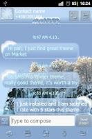 Screenshot of Winter theme Go SMS Pro