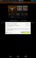 Screenshot of Texas Longhorns Live Clock