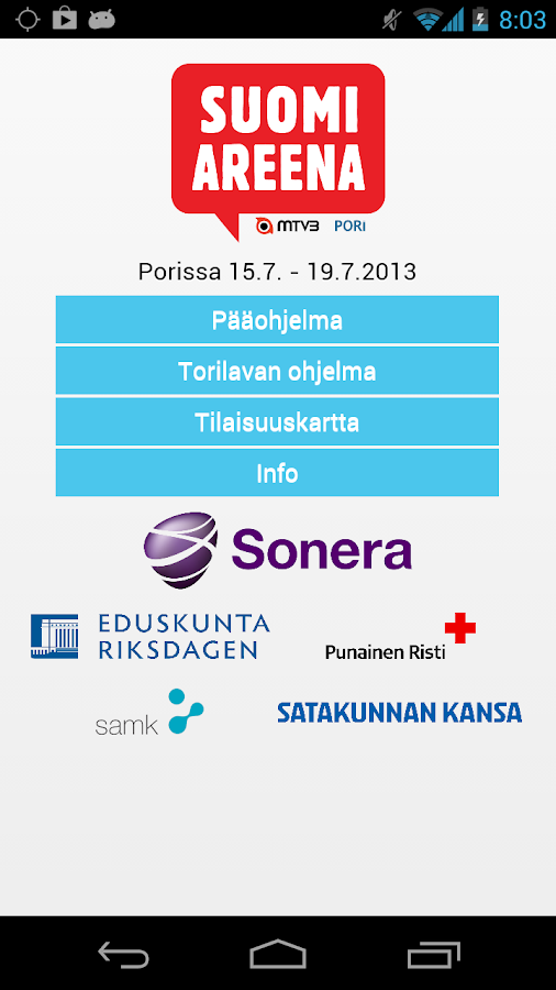 SuomiAreena - screenshot