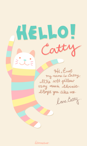 Hello catty go launcher theme