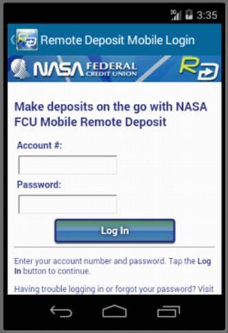 NASA FCU Mobile Remote Deposit