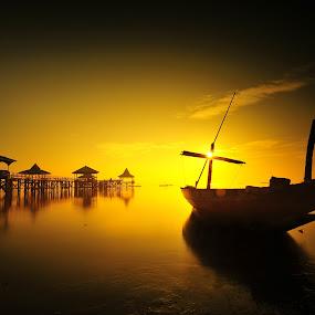 shining boat by Sapto Nugroho - Transportation Boats
