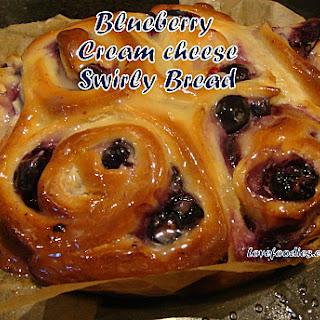 Blueberry Cream Cheese Swirly Bread