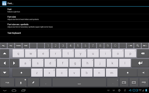 Thumb Keyboard Screenshot 26