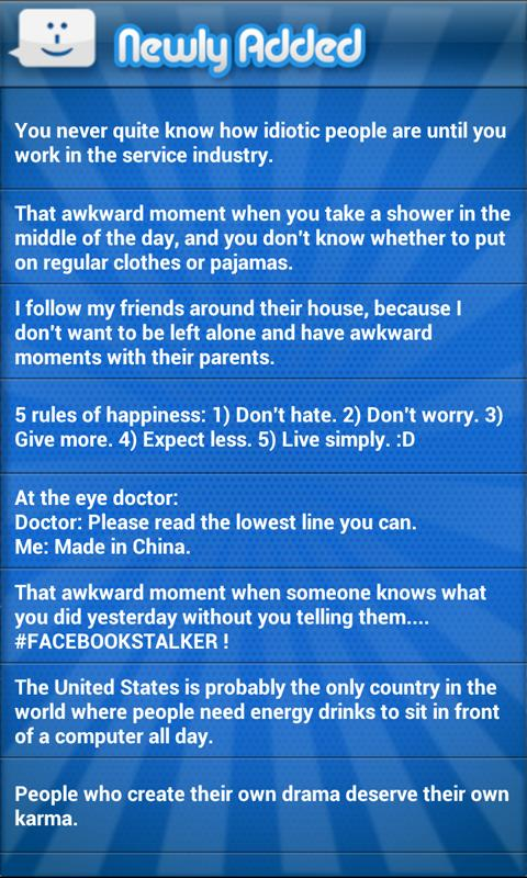 Funny Status Updates 2 Premium - screenshot