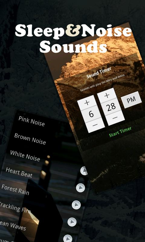 Screenshots of Sleep And Noise Sounds (SNS) for iPhone