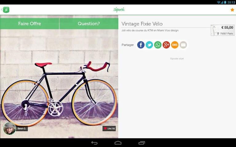 android Shpock Flohmarkt Kleinanzeigen Screenshot 1
