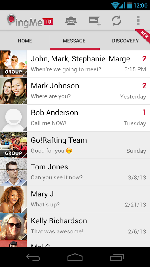 PingMe Messenger - screenshot