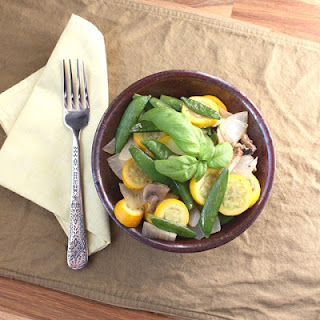 Sauteed Snap Peas and Zucchini with Basil