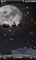 Screenshot of Flying Santa Live Wallpaper