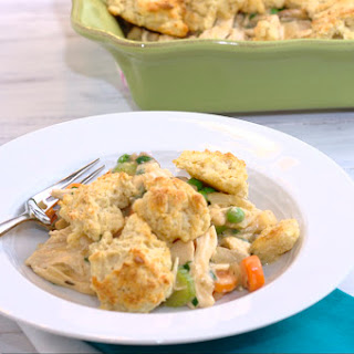 Chicken Pot Pie with Biscuit Crumble Topping.