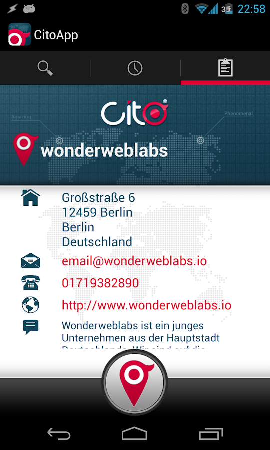 CitoApp- screenshot