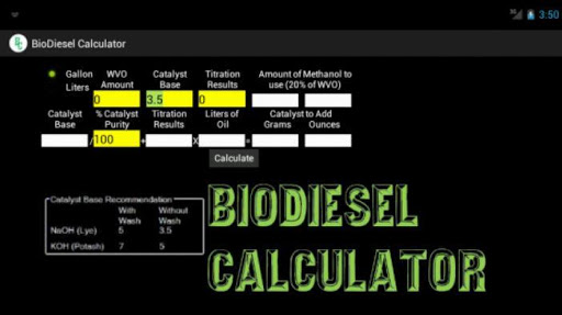 BioDiesel Calculator 2.0 Free