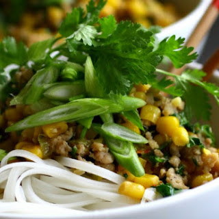 Rice Noodle Chicken Bowl