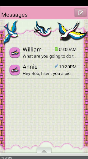 PrettyBirds GO SMS THEME