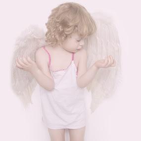 Aniołom marzną skrzydła  by Agnieszka Pogorzałek Gross - Babies & Children Child Portraits ( angel, white )