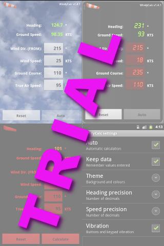 WindyCalcTrial- screenshot