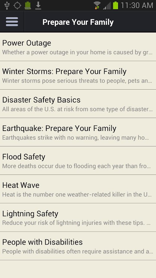 FLASH Weather Alerts - screenshot