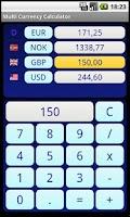 Screenshot of Multi Currency Calculator