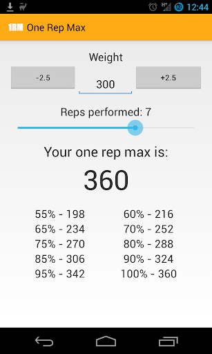One Rep Max