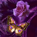 Butterfly and Rose Painted Liv logo