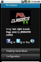 Screenshot of Radio FG USA Application