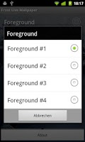 Screenshot of Frost Live Wallpaper HD FREE