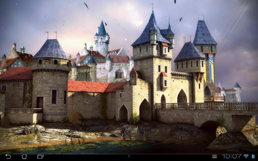Живые обои Castle 3D Pro live wallpaper для планшетов на Android