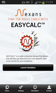 Nexans EASYCALC- screenshot thumbnail