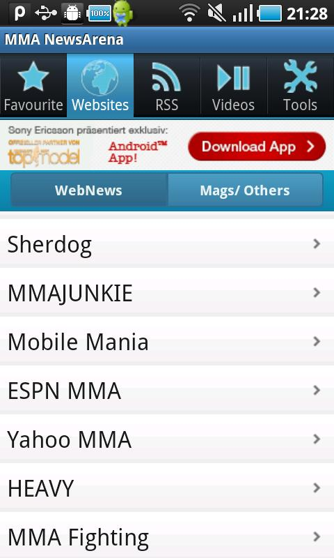 MMA NewsArena - screenshot