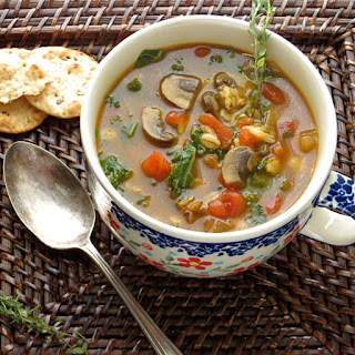 Barley And Mushroom Soup.