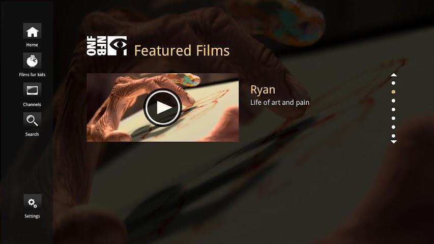 Screenshot 1 NFB Films for Google TV
