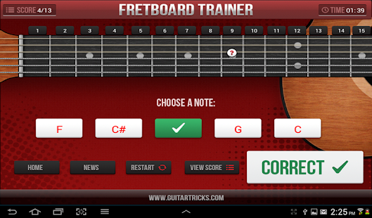 Guitar Fretboard Challenge- screenshot thumbnail
