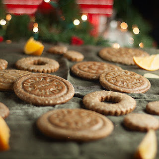 Orange-Glazed Gingerbread Cookies
