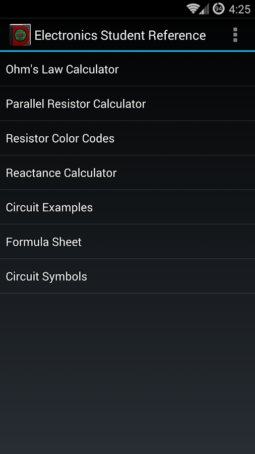 Electronics Student Reference- screenshot