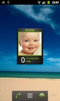 Screenshot of Baby Age Widget with photo