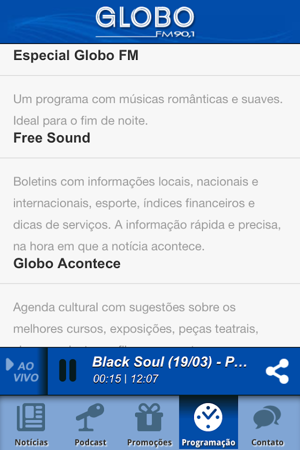 Globo FM Salvador- screenshot