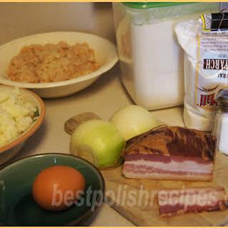 Potato dumplings (Pyzy kartoflane/Pyzy. Raw-grated & mashed type).