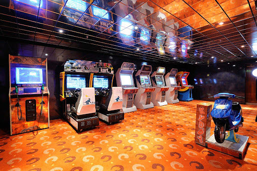 MSC-Sinfonia-Galaxy-Video-Games - The Galaxy video game arcade is just one way to keep kids entertained on an MSC Sinfonia cruise.