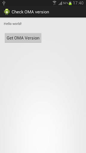 Check OMA Version