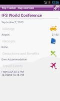 Screenshot of IFS Trip Tracker