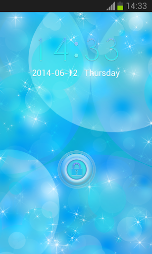 Lock Screen for S5 Blue