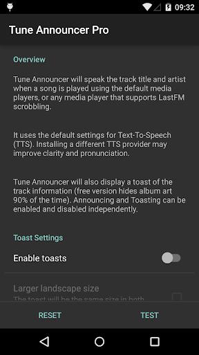 Tune Announcer Pro