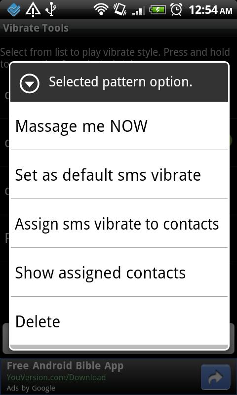 Vibrate tools - screenshot