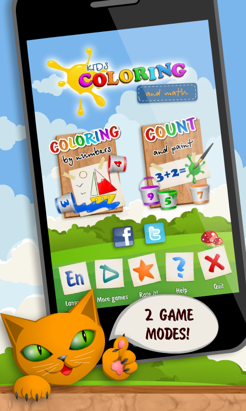 Kids Coloring and Math- screenshot