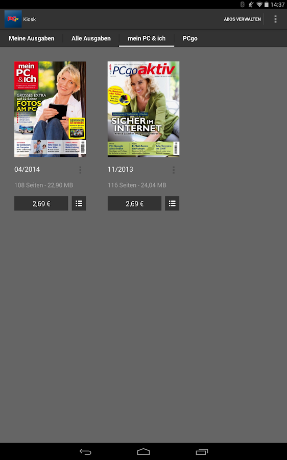 PCgo Magazin- screenshot