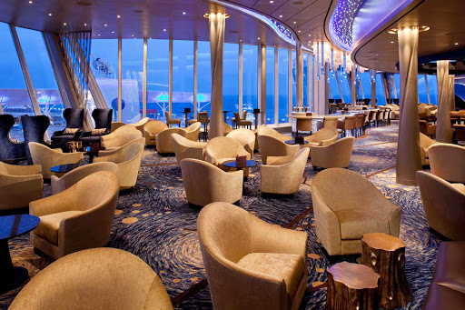 Allure-of-the-Seas-Viking-Crown - When cocktail hour arrives, kick back and take in the views at the van Goghesque Viking Crown Lounge on Allure of the Seas.