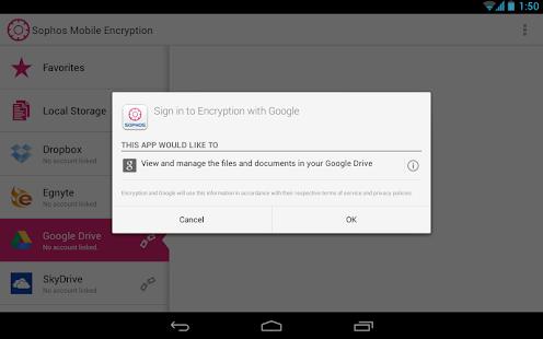 Sophos Mobile Encryption - screenshot thumbnail