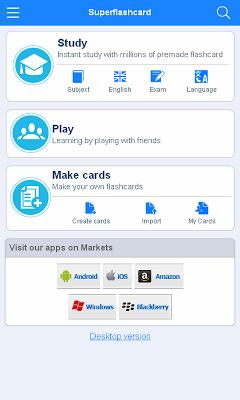 Finnish flashcards - screenshot